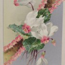 Easter Postcard Floral Design John Winsch  Embossed Posted Divided