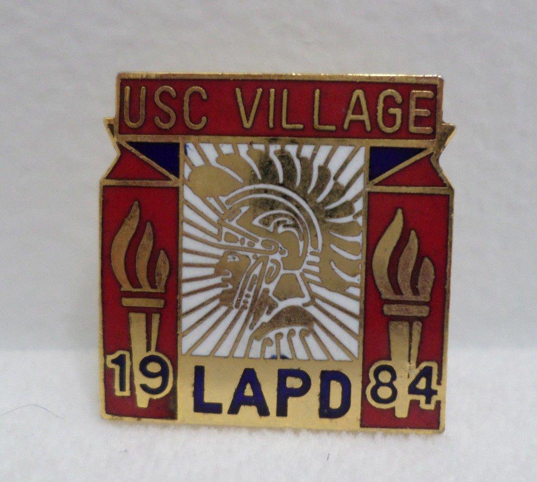 1984 Los Angeles Olympics Collector Pin Los Angeles Police Dept. USC Village