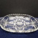 Divided Relish Tray Early American Prescut Star of David Anchor Hocking