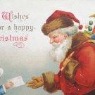 Antique Christmas Postcard Santa Claus Ellen Clapsaddle Germany Embossed