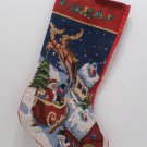 Christmas stocking Santa Claus sleigh reindeer