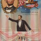 Antique Postcard President Abraham Lincoln Posted Divided