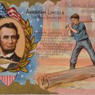 Antique Postcard President Abraham Lincoln UnPosted Divided