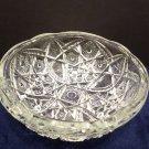 Vintage Bowl Clear Sandwich Glass Sitting on Three Feet