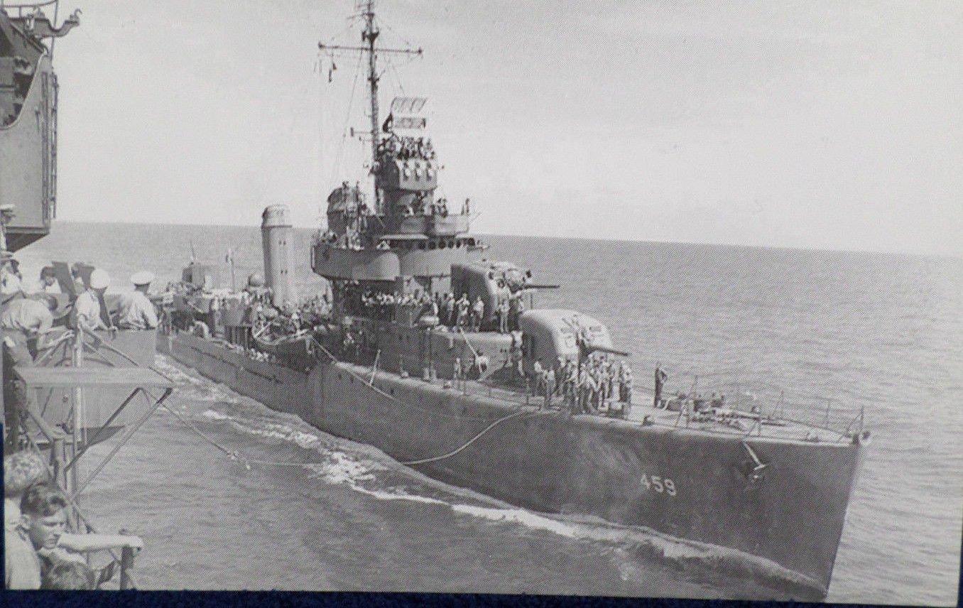 USS Laffy DD 459 Battleship Real Photo Postcard Official U.S. Navy NEW