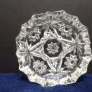 Large Ashtray Early American Prescut Clear Glass Anchor Hocking Star of David