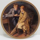 1983 Collector Plate Confiding in the Den by Norman Rockwell #10122E
