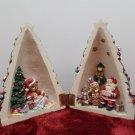 Christmas Tree Figurine Opens up to a Christmas Scene