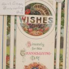 Antique Thanksgiving postcard John Winsch Embossed Unposted Divided