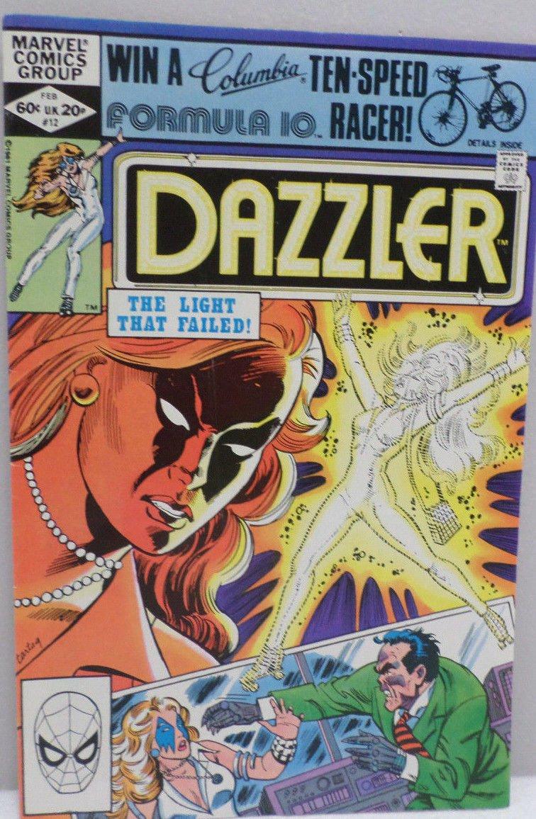 DAZZLER The Light That Failed February 1982 No. 12 Marvel Comics Comic Book