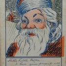 Antique Christmas Postcard Santa Claus Undivided Unposted