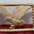 Belt Buckle Gold Tone Metal Eagle Design