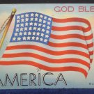 Antique Postcard God Bless America Genuine Curteich Chicago C.T. Art Colortone