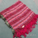 Womens Scarf Wrap Rayon Red and Pink made in India Vintage