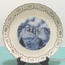 Souvenir Collector Plate South Dakota Mount Rushmore Porcelain Vintage