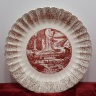 Souvenir Collector Plate Yellowstone National Park Porcelain Vintage