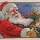 Christmas Postcard Santa Claus Embossed Posted