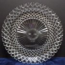 Serving Tray Platter Clear Glass Diamond Pattern