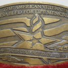 Brass Belt Buckle 2006 Veterans Disabled For Life Memorial made in USA