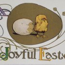 Antique Easter Postcard Chick Hatching Out of an Egg Unposted Divided