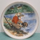 Souvenir Collector Plate Virginia City Nevada Miniature Porcelain