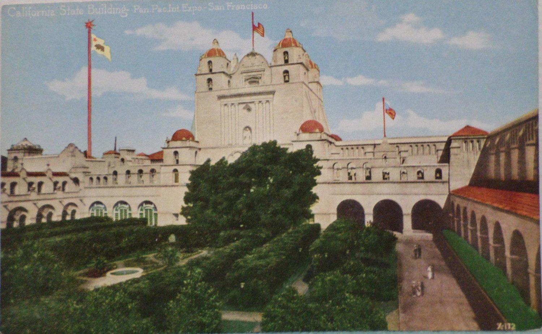 Antique Postcard Pan Pacific Intl Expo San Francisco California State Building