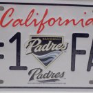 License Plate California Padres # 1 Fan Major Leagues Genuine Merch New Package