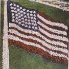 Vintage Patriotic Postcard A Living Flag Unposted Divided