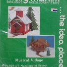 Needlepoint Kit Christmas Village School Musical by Mary Maxim New