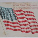 Antique Patriotic Postcard USA Flag for Memorial Day  Unposted Divided