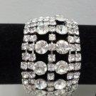 Vintage Bracelet Prong Set Rhinestones Costume Jewelry