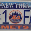 Collector License Plate New York Mets # 1 Fan Metal Major Leagues New in Package