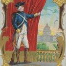 Antique Patriotic Postcard Embossed Posted Embossed