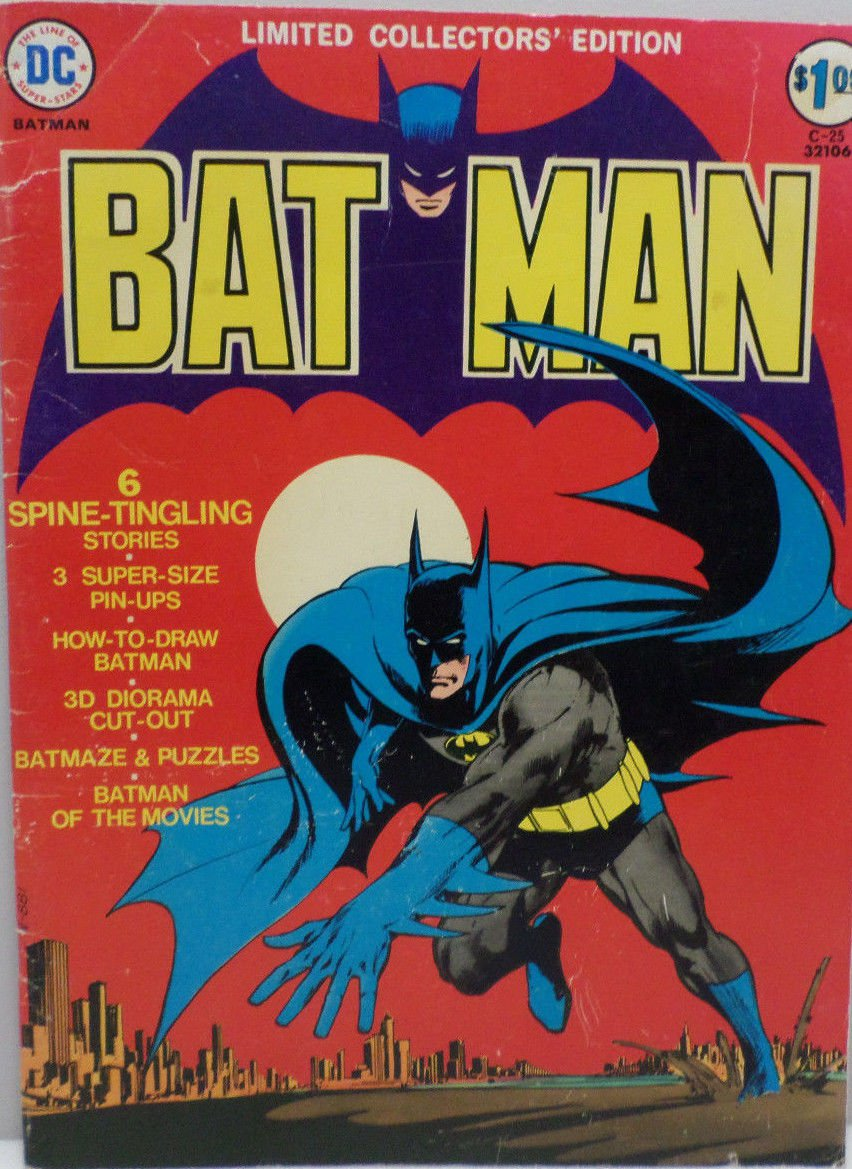 Bat Man Limited Collector's Edition D.C. Superstars Super Sized 1974 comic book