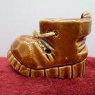 Brown Shoe Figurine Porcelain Vintage
