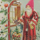 Antique Christmas Postcard Santa Claus Embossed Divided Unposted Austria
