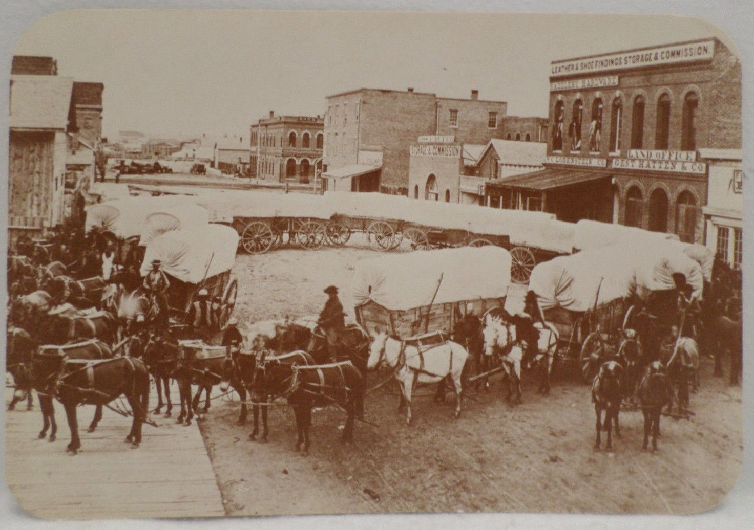 Postcard Old West Collectors Series Wagons Ho