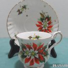 Royalty Tea Cup and Saucer Fine Bone China Noel Pattern England