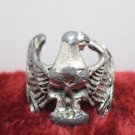 Biker's Ring Silver Plated Eagle Size 7
