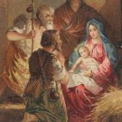 Antique Christmas postcard Manger Scene Baby Jesus Unposted Divided