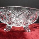 Candy Bowl Clear Crystal Snow Flake Design