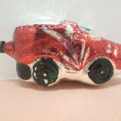 Christmas Tree Ornament Mercury Glass  Red Car Made in Japan
