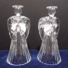Christmas Candlestick Holders Crystal Angels one Pair