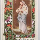 Antique Christmas Postcard Religious Mary and Baby Jesus Whitney Unposted
