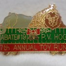Collector Lapel Pin 7th Annual Toy Run P.V. Hog Abatement # 19
