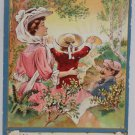 Antique Postcard Victorian Religious Sanders Embossed Unposted Divided