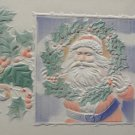Antique Christmas Postcard Santa Claus Holding a Wreath Divided Unposted