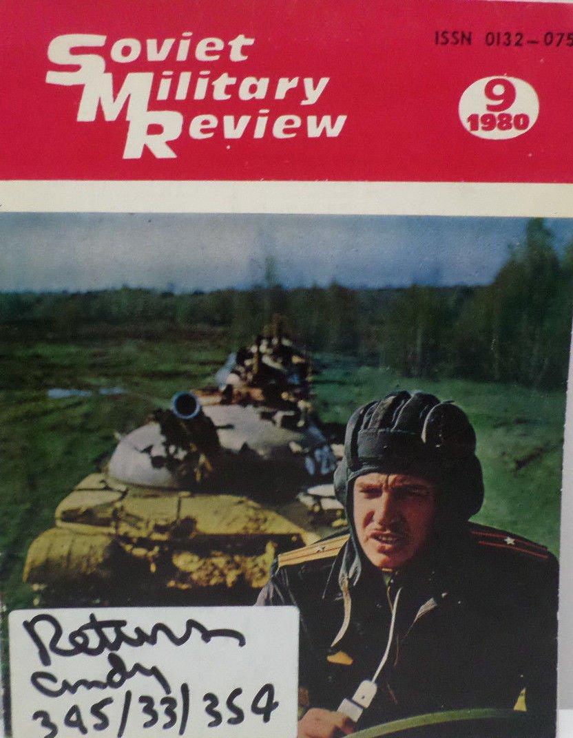 Soviet Military Review Magazine September 1980
