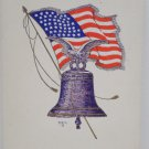 Antique Patriotic Postcard United States Flag Liberty Bell Embossed Unposted