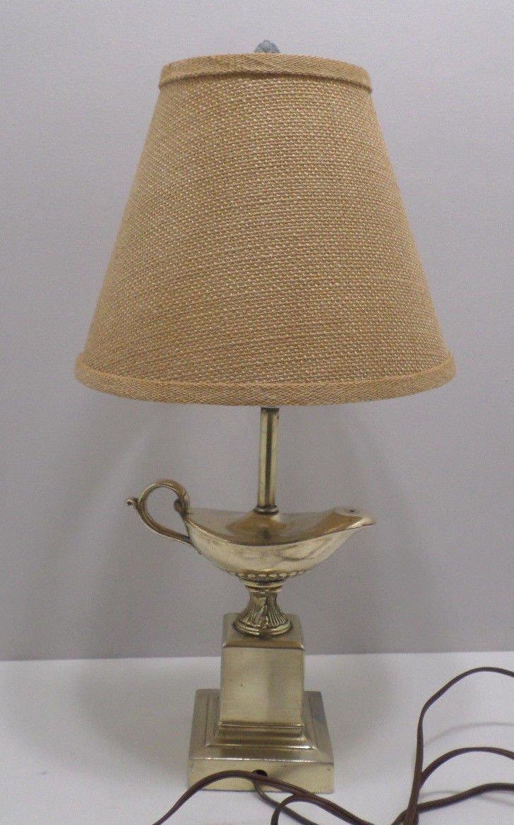 Vintage Brass Table Lamp Genie Lantern
